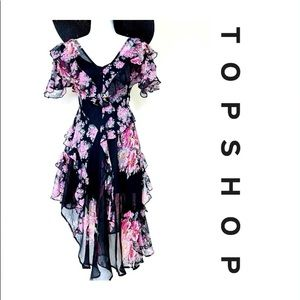 Top Shop Floral Ruffle Dress
